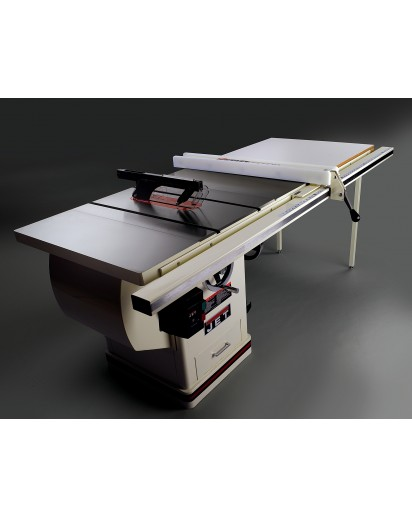 Jet 70867pk xactasaw deluxe review table saw person on hand to help with unpacking and setting up the table saw since the saw weighs in at over 500 pounds greentooth Gallery